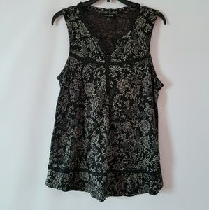 Lucky brand sleeveless paisley print top small
